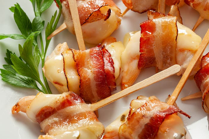 Bacon Wrapped Shrimp with Pepper Jack Cheese